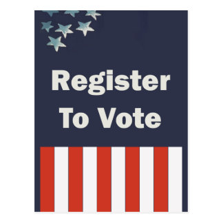 Red White and Blue Register to Vote Postcard