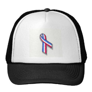 Red, White and Blue Ribbon Hats
