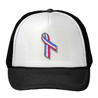 Red White and Blue Ribbon. Hat