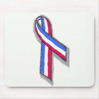 Red White and Blue Ribbon Mouse Pads