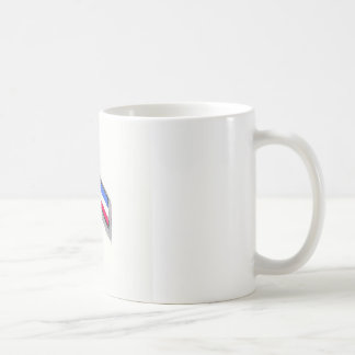 Red White and Blue Ribbon. Coffee Mugs