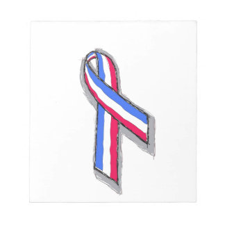 Red White and Blue Ribbon Scratch Pad