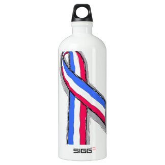 Red White and Blue Ribbon. SIGG Traveller 1.0L Water Bottle