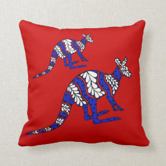Red White and Blue Roo Cushion