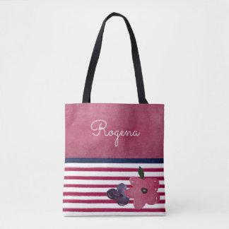Red, White, and Blue - Roses Are Red Tote Bag