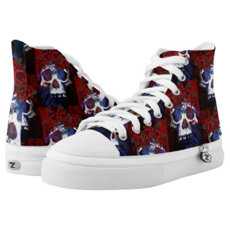 Red, White, and Blue Skull High Tops