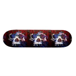Red, White, and Blue Skull Skateboards