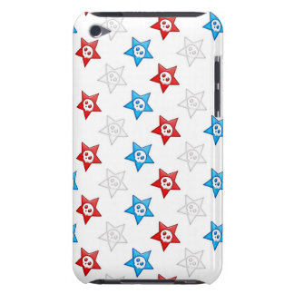 Red White and Blue Skull Stars 2 iPod Case-Mate Cases
