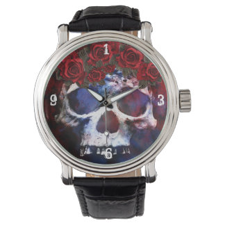 Red, White, and Blue Skull Watch