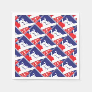 Red-White-and-Blue-Snow-Boa Disposable Napkin