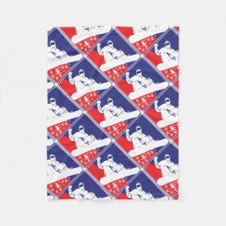 Red-White-and-Blue-Snow-Boa Fleece Blanket
