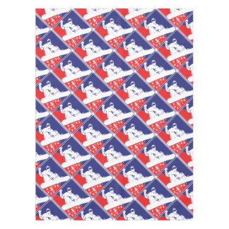 Red-White-and-Blue-Snow-Boa Tablecloth