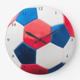 Red White and Blue Soccer Wallclock