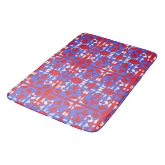 Red, White and Blue Spheres Bath Mat