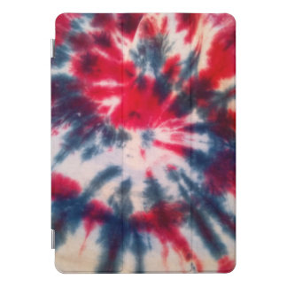 Red White and Blue Spiral Tie Dye Cover