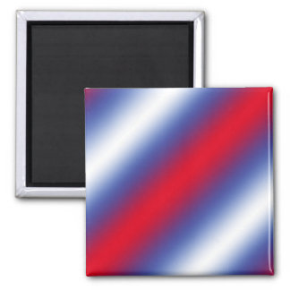 Red, White and Blue Square Magnet