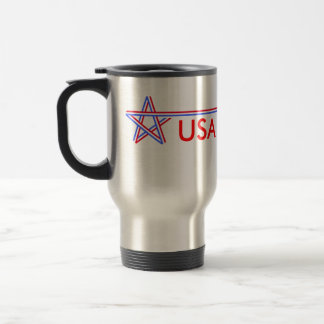 Red White and Blue Star Coffee Mug