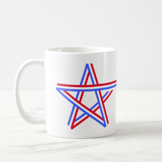 Red White and Blue Star Coffee Mugs