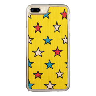 red, white and blue star phone carved iPhone 8 plus/7 plus case