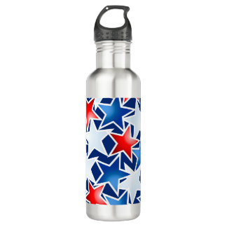 Red white and blue stars 710 ml water bottle