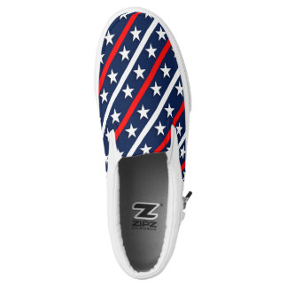 red white and blue stars and stripes background slip on shoes