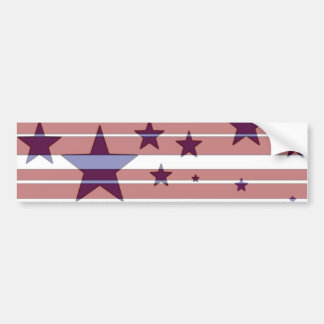 Red, White, and Blue/ Stars and Stripes Design -B- Bumper Sticker