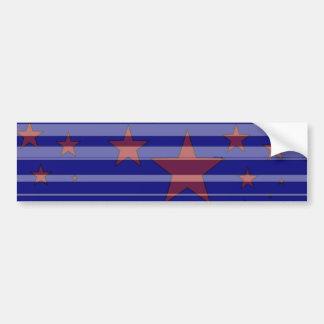 Red, White, and Blue/ Stars and Stripes Design -B- Car Bumper Sticker