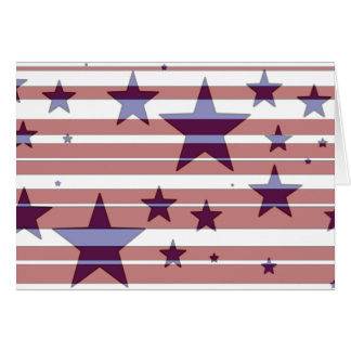 Red, White, and Blue/ Stars and Stripes Design -C- Note Card