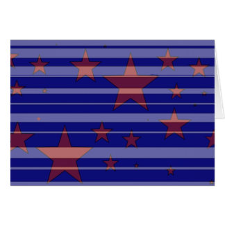 Red, White, and Blue/ Stars and Stripes Design -C- Greeting Card