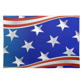 Red White and Blue Stars and Stripes Placemats