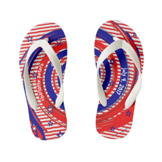 Red White and Blue Stars and Stripes Thongs