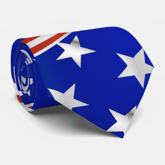 Red White and Blue Stars and Stripes Tie