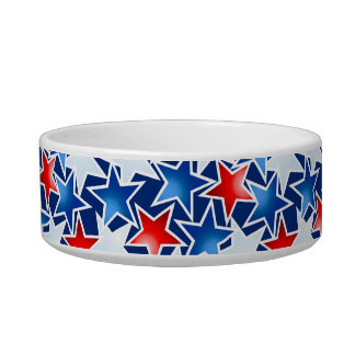 Red white and blue stars bowl