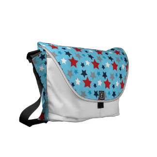 Red White And Blue Stars Commuter Bag