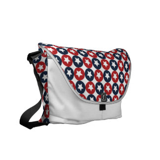 Red White And Blue Stars Courier Bags