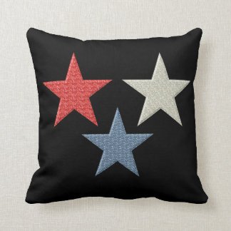 Red White and Blue Stars Throw Cushions