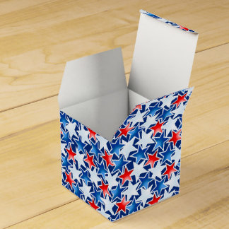 Red white and blue stars favour box