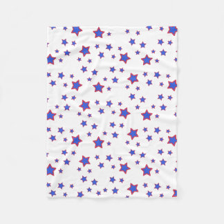 Red, White, and Blue Stars Fleece Blanket