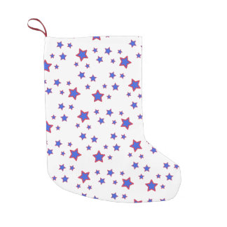 Red, White, and Blue Stars Small Christmas Stocking