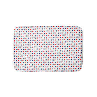 red, white and blue stars patriotic Thunder_Cove Bath Mat