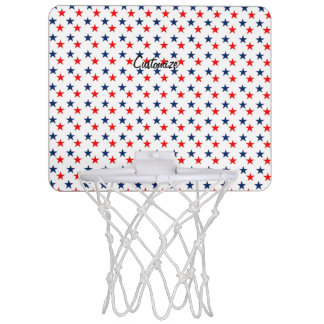 Red, white and blue stars patriotic Thunder_Cove Mini Basketball Hoop