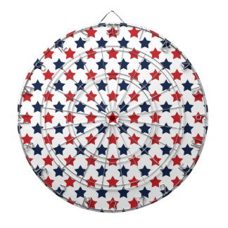 Red, White, and Blue Stars Pattern Dartboards