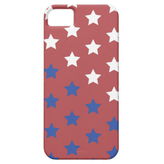 red white and blue stars phone case