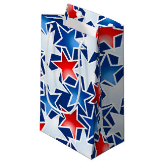 Red white and blue stars small gift bag