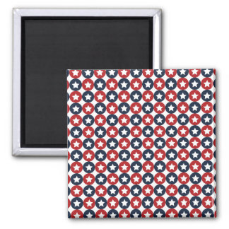 Red White And Blue Stars Square Magnet