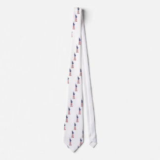 Red White And Blue Statue Of Liberty Tie