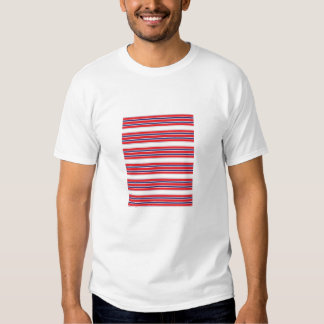 Red, White and Blue Stripe Adult Tee Shirt