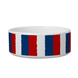 Red, White and Blue Stripe Bowl