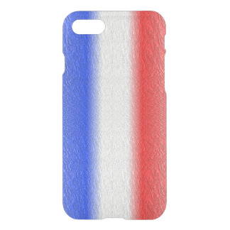 Red White and Blue Stripe iPhone 7 Case