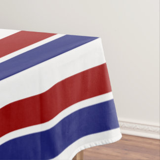 Red White and Blue Striped Tablecloth